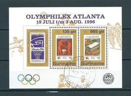 1996 Suriname Complete M/Sheet Olymphilex Atlanta Used/gebruikt/oblitere - Suriname