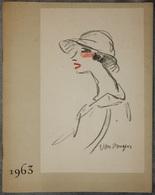 DOCUMENT COMMERCIAL CATALOGUE BEAUMONT JOAILLIERS 1963 BIJOUX LYON LE FEMME VAN DONGEN - France
