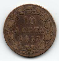 10 Lepta 1857 - Greece, Othonas - Greece