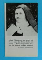 SAINT TERESA OF AVILA - Croatia Holy Card * SAINT TERESA D'AVILA SAINT TERESA VON AVILA Image Pieuse Santino Fustellato - Religion & Esotericism