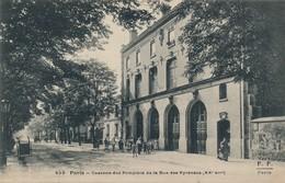 I48 - 75 - PARIS - Caserne Des Pompiers De La Rue Des Pyrénées - XXe Arrdt - District 20