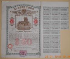 """ACTION """" EL BUEN TONO """" Cie Manufacture De Cigares à MEXICO - 25 Novembre 1912 - TITRE RARE - - Industrie"""