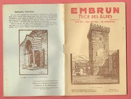 HAUTES-ALPES - La NICE DES ALPES - Années 30 - 20 Pages - 1 Photo Centrale D'Embrun - Nombreuses Publicités Locales - Dépliants Touristiques