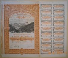 ACTION -MINES AMIANTE DE POSCHIAVO En SUISSE - 06 Septembre 1906 - RARE - Mines