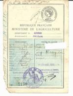 TIMBRES FISCAUX SUR PERMIS DE CHASSE - 1938 - 1939 - Pour Les Amateurs De Timbres Taxes Ou Fiscaux - Timbres