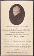 Souvenez Vous De Françoise De La Rochefoucault Aldobrandini Princesse De Sarsina + 1922 Nuit De Noël - Noble Noblesse - Décès