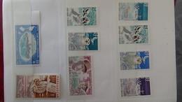 Carnet à Choix Avec Timbres ** Des Anciennes Colonies Françaises Dont Des NON DENTELES Côte 1300 Euros  !!! - Briefmarken