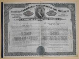 ACTION FERROCARRILES NACIONALES De MEXICO - Du 15 Mars 1910 - CHEMIN DE FER DU MEXIQUE - Chemin De Fer & Tramway