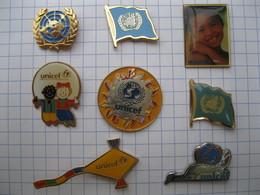 UNICEF  Lot De 8 Pin's - Pin's