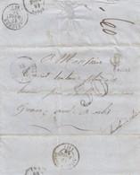 LETTRE. ALPES MARITIMES. 1856.   COLMARS-LES-ALPES POUR ARLES.  BOITE RURALE D = ALLOS. TAXE  TAMPON 30   / 2 - Marcofilia (sobres)