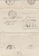 LETTRE. ALPES MARITIMES. 1861.   CASTELLANNE POUR ARLES. TAXE  TAMPON 30   / 2 - Marcophilie (Lettres)