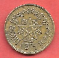 20 Francs , MAROC , Protectorat Français , Alu-Bronze , AH 1371 , N° Y # 50 - Maroc