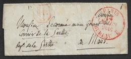 1836 - LAC - PARIS BUREAU E A LE MANS -Marque P.P  PORT PPAYÉ - 1801-1848: Précurseurs XIX