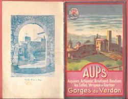 AUPS (Var) 1930 - AIGUINES, ARTIGNOSC, BAUDINARD, BAUDUEN, LES SALLES, VERIGNON, TOURTOUR 14 Pages - Dépliants Touristiques