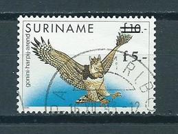 1993 Suriname Fl.5 Overprint,birds,oiseaux,vogel Used/gebruikt/oblitere - Suriname