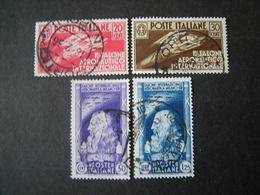 1935 - SALONE AERONAUTICO, Serie Compl. Usata , 4 Val. TTB,  OCCASIONE - 1900-44 Vittorio Emanuele III