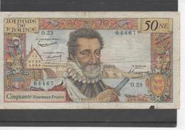 Billet De 50 NF, Henri IV - 1959-1966 Nouveaux Francs