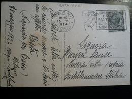 Mata Hari Corriere Italiano Milano Centro 15.V.1924 !!!!! Su Cartolina Di Milano - Affrancature Meccaniche Rosse (EMA)