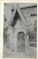 CPA 11 Aude Rennes Le Chateau Entrée De L' Eglise Abimée, Manque En Bas à Gauche Recto - France