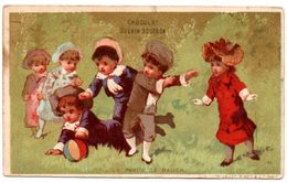 Chromo Guérin-boutron. Jeux D'enfants, La Partie De Ballon. - Guerin Boutron