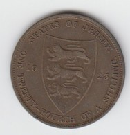 Jersey Coin George V One Twentyforth Of A Shilling 1/24 Dated 1923 - Jersey