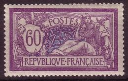 Type Merson - 1907 - 60c Violet Et Bleu - YT N° 144** - France