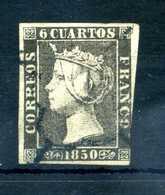 1850 SPAGNA N.1 USATO - 1850-68 Kingdom: Isabella II