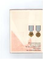 25è ANNIVERSAIRE DE LA VICTOIRE ET DE LA LIBERATION DES CAMPS DE CONCENTRATION  Par HALEY 1945-1970TIMBRES 1er JOUR - Documents