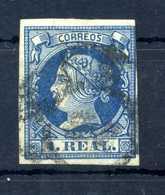 1860 SPAGNA N.51 USATO - 1850-68 Kingdom: Isabella II