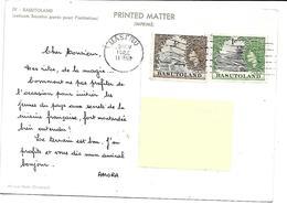 Afrique-BASUTOLAND-Enfants BASUTOS Parés Pour L'Initiation-PUB.Collection AMORA-TIMBRE-Obliteration-1961 - Cartes Postales