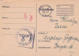 German Feldpost WW2: Plain Postcard From 7. Schiffstammabteilung P/m Stralsund 6.6.1941  (DD24-9) - 2. Weltkrieg