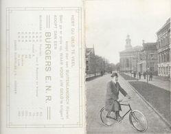 Publicité Burgers E.N.R. - Carte Double Avec Plan Province De Drente - Photo D'Assen, Cycliste - Werbung