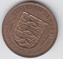 Jersey Coin George V1 One Twentyforth Of A Shilling 1/24 Dated 1937 - Jersey