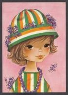 92208/ ENFANTS, Illustration, Fillette - Dessins D'enfants