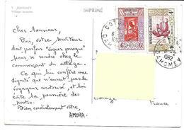 Afrique-DAHOMEY-Village Lacustre-PUB.Collection AMORA-TIMBRE-Obliteration-1961 - Dahomey