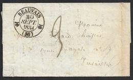 1834 - LAC - BEAUVAIS 20 SEPT 1834 - BANLIEUE - 2ieme DISTRIBUTION - Belle Frappe - 1801-1848: Précurseurs XIX