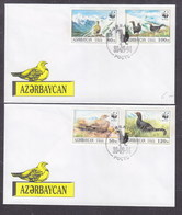 Azerbaïjan 1994 WWF The Georgian Black Grouse FDC - Azerbaijan