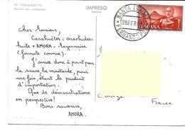 Afrique-FERNANDO POO-BIOKO-Espagne-Recolte  Des Cacahuétes--PUB.Collection AMORA-TIMBRE-Obliteration-1962 - Cartes Postales