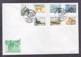 Azerbaïjan 1995 Definitive Issue.Flora And Fauna FDC - Azerbaijan