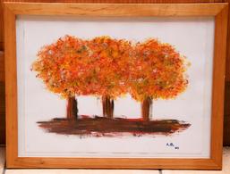 Tableau 20_ «Arbres En Automne»_peinture à L'eau - Waterverf