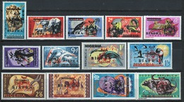 Biafra 1968 Definitive Set Of Stamps Of Nigeria Overprinted 'Sovereign Biafra'. - Nigeria (1961-...)