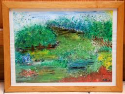 Tableau 21_ «Le Verger»_peinture à L'eau - Gouaches