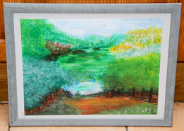 Tableau 22_ «L'été»_peinture à L'eau - Waterverf