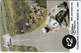 Isle Of Man, MAN 077, TT Racers 1994,  Nick Jefferies, 2 Scans. - Isla De Man