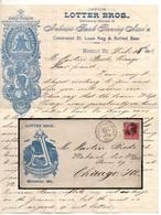 BIERE - BEER - BIER / 1893 MOBERLY MISSOURI USA ENVELOPPE & COURRIER A ENTÊTE POUR CHICAGO (ref LE3180) - Bières