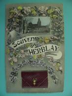 ST/273 - 95 - HERBLAY - Souvenir Sacoche 10 Vues Anciennes, Légendées Main, Dont Gare - Herblay