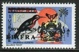 Biafra 1968 1½d Definitive Stamp Of Nigeria Overprinted 'Sovereign Biafra'. - Nigeria (1961-...)