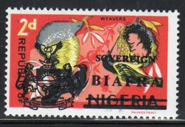 Biafra 1968 2d Definitive Stamp Of Nigeria Overprinted 'Sovereign Biafra'. - Nigeria (1961-...)