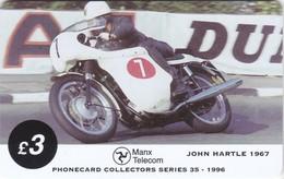 Isle Of Man, MAN 108, TT Racers 1996, John Hartle, 2 Scans .  Mint ? - Isla De Man
