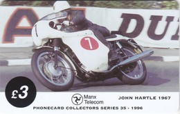 Isle Of Man, MAN 108, TT Racers 1996, John Hartle, 2 Scans .  Mint ? - Isle Of Man